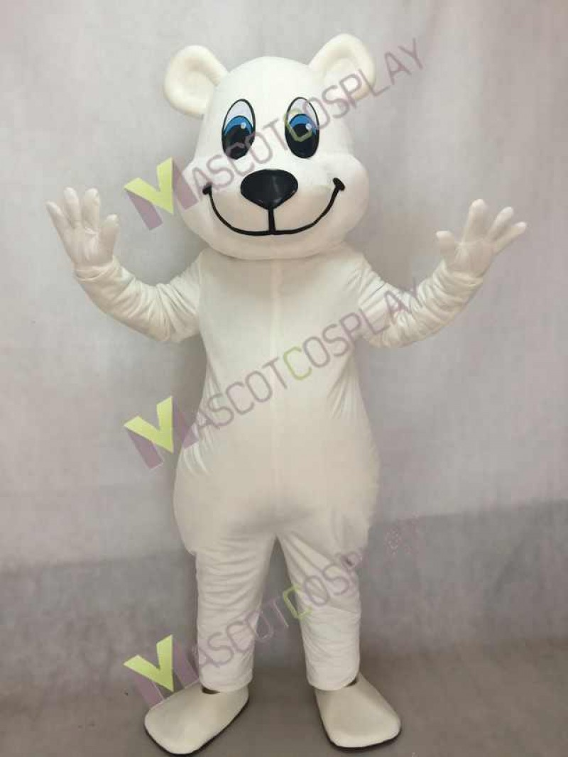 New White Breezy Polar Bear Mascot Costume