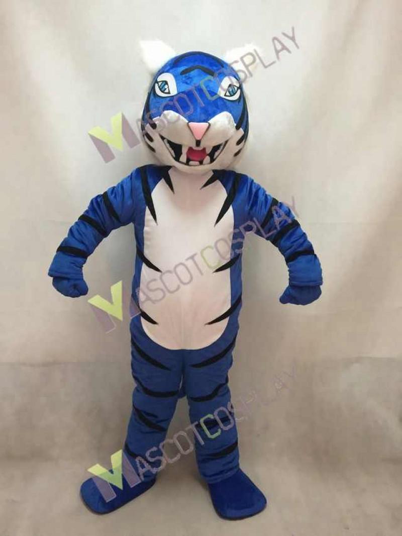 New Custom Color Royal Blue Bengal Tiger Mascot Costume