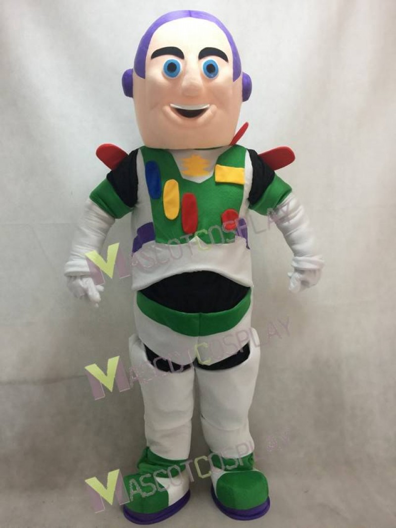 High Quality Realistic New Buzz Lightyear Mascot Character Adult Costume Fancy Dress Outfit