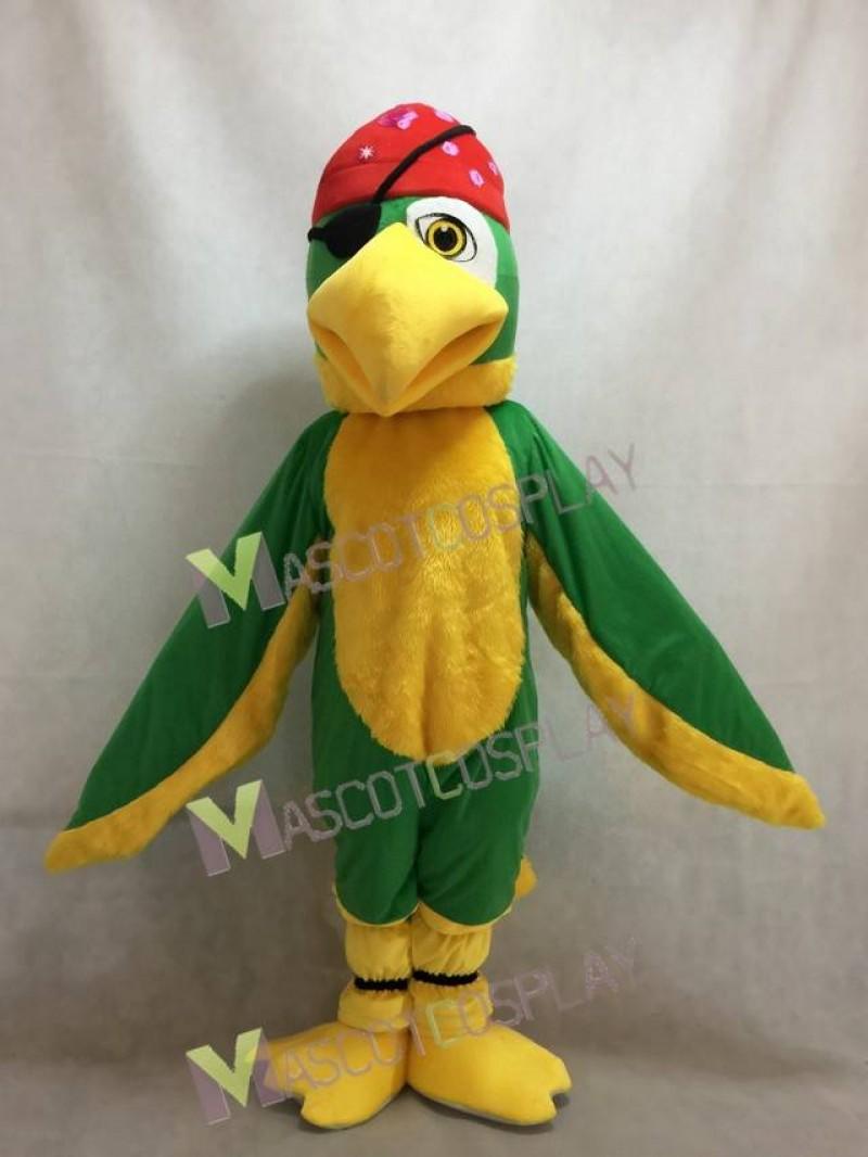 New Green Polly Parrot Bird Mascot Costume
