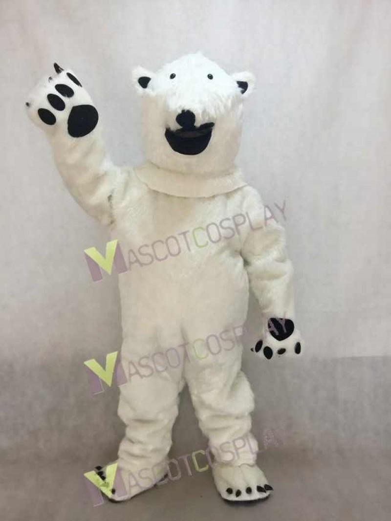Fierce Polar Bear Adult Mascot Costume