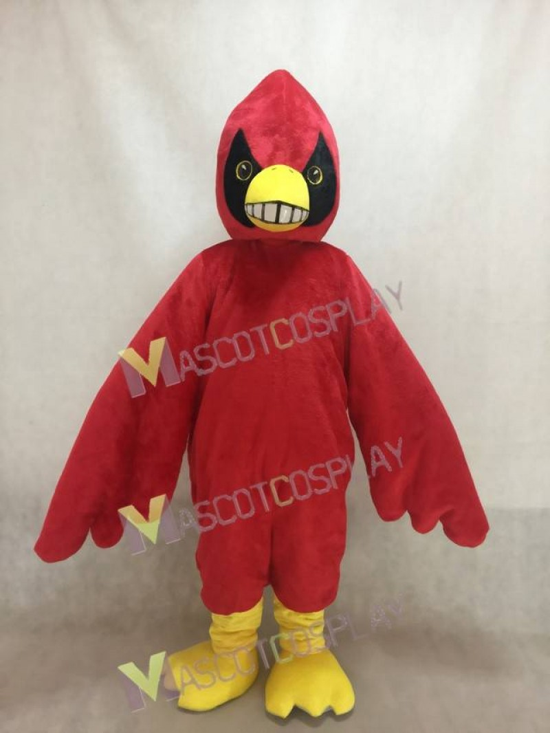 Happy Red Bird Cardinal Mascot Costume
