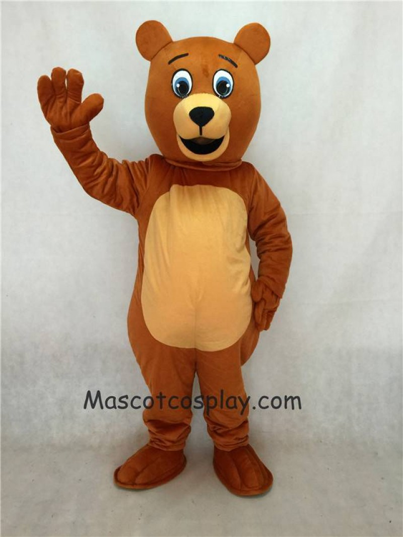 High Quality Realistic New Brown Jolly Happy Bear Mascot Costume