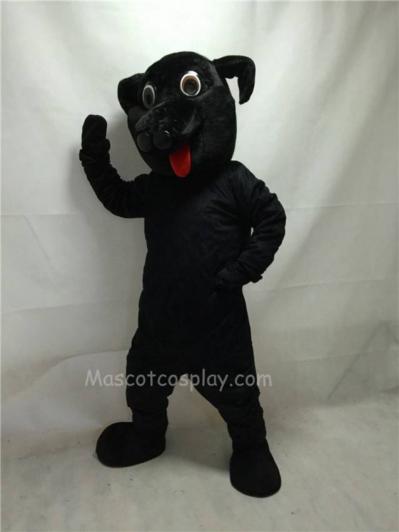 Cute New Black Labrador Dog Mascot Costume