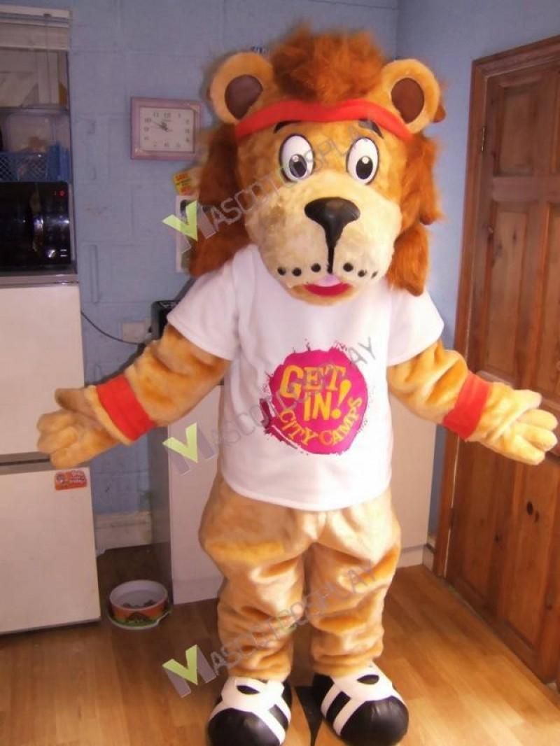 High Quality Adult Lenny The Lion Mascot Costume