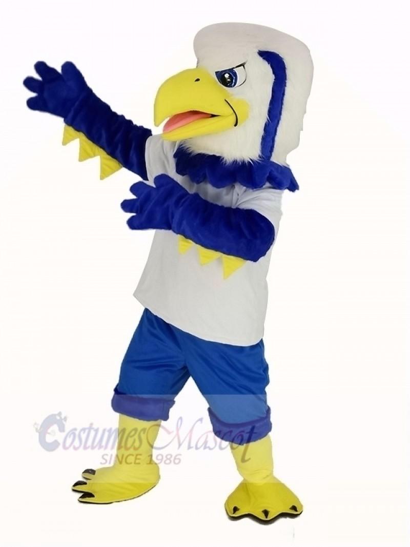 Cool Blue Eagle Mascot Costume Animal