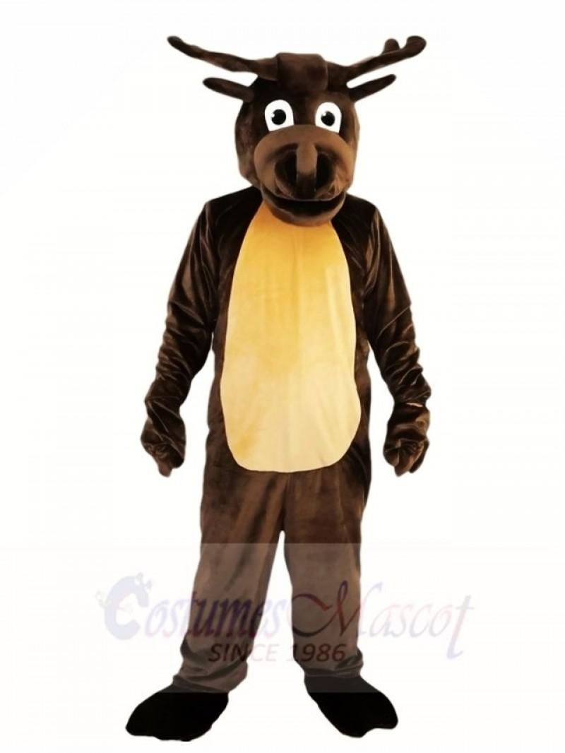 Dark Brown Deer Moose Mascot Costumes Animal