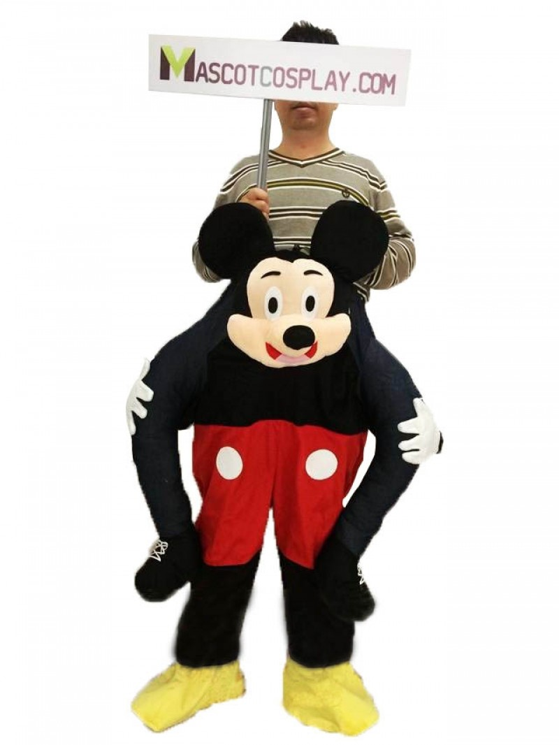Mickey Mouse Carry Me Ride Piggyback Mouse Mascot Costume