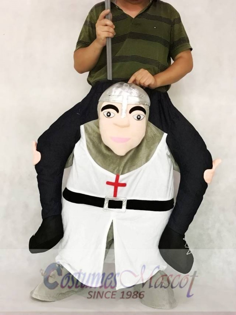 The Crusades Piggy Back Carry Me Mascot Costume Crusader Knight Suit