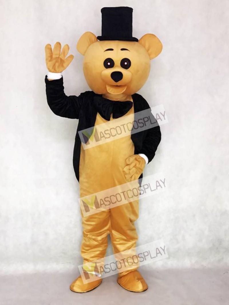 Ritual Bear Mascot Costume Brown Teddy Bear Gentleman Suit