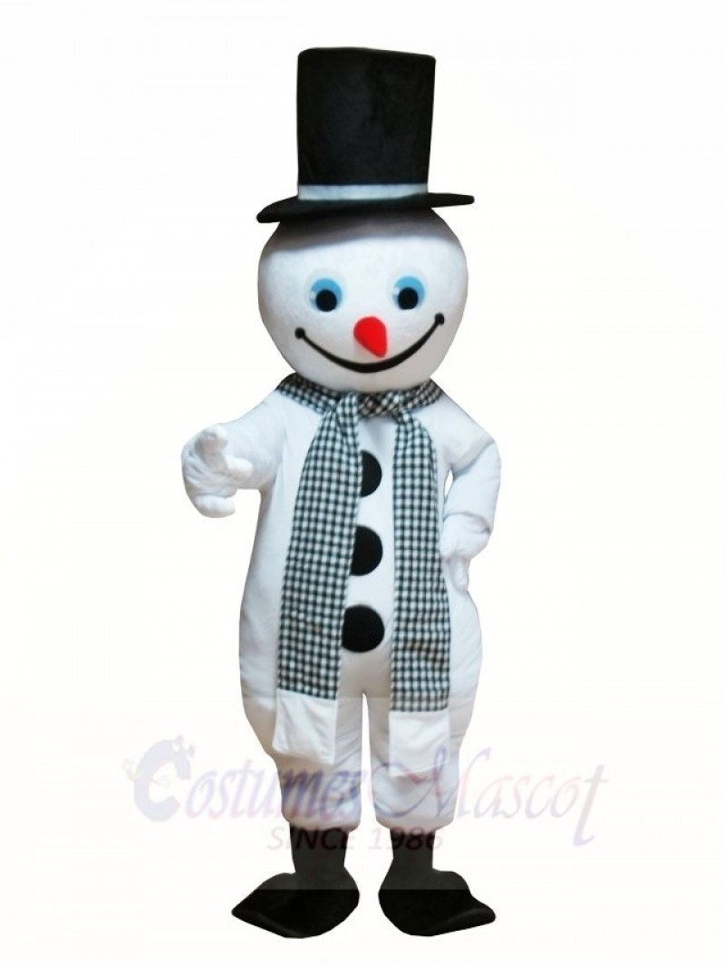 Snowman with Hat & Scarf Mascot Costumes Christmas Xmas