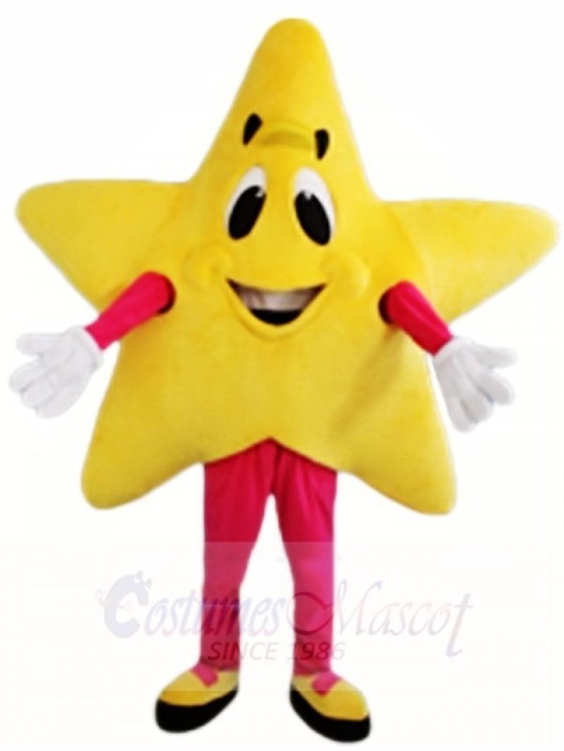 Yellow Twinkle Star Mascot Costumes Christmas Xmas
