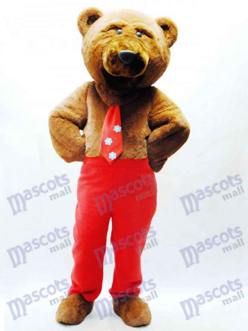 Dandy Bear Mascot Costume