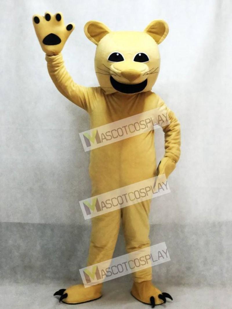 Tan Cougar Mascot Costume