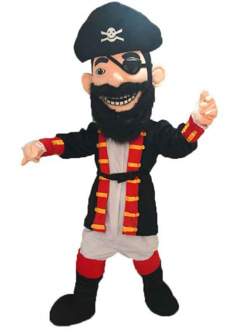 Hot Sale New Redbeard Pirate Mascot Costume with Black Hat