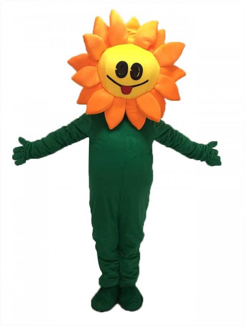 New Orange Sunflower Mascot Costume