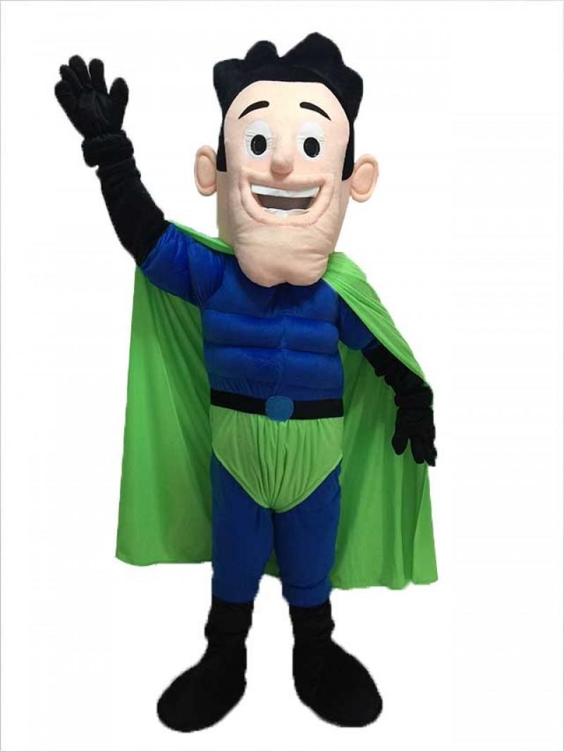 New Super Hero Mascot Costume with Green Cloak