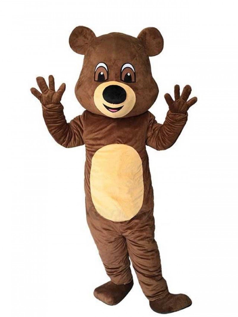 New Funny Brown Teddy Bear Mascot Costume