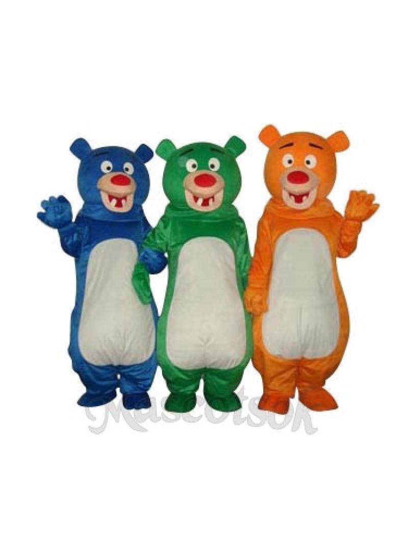 Blue Bear Mascot Adult Costume
