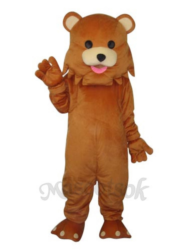 Bear Strange Mouth  Mascot Adult Costume