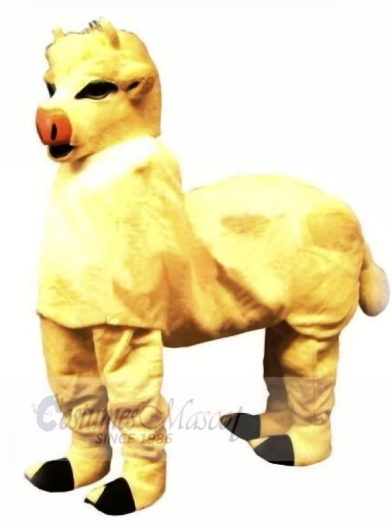 Cute Yellow New 2 Person Cow Mascot Costume