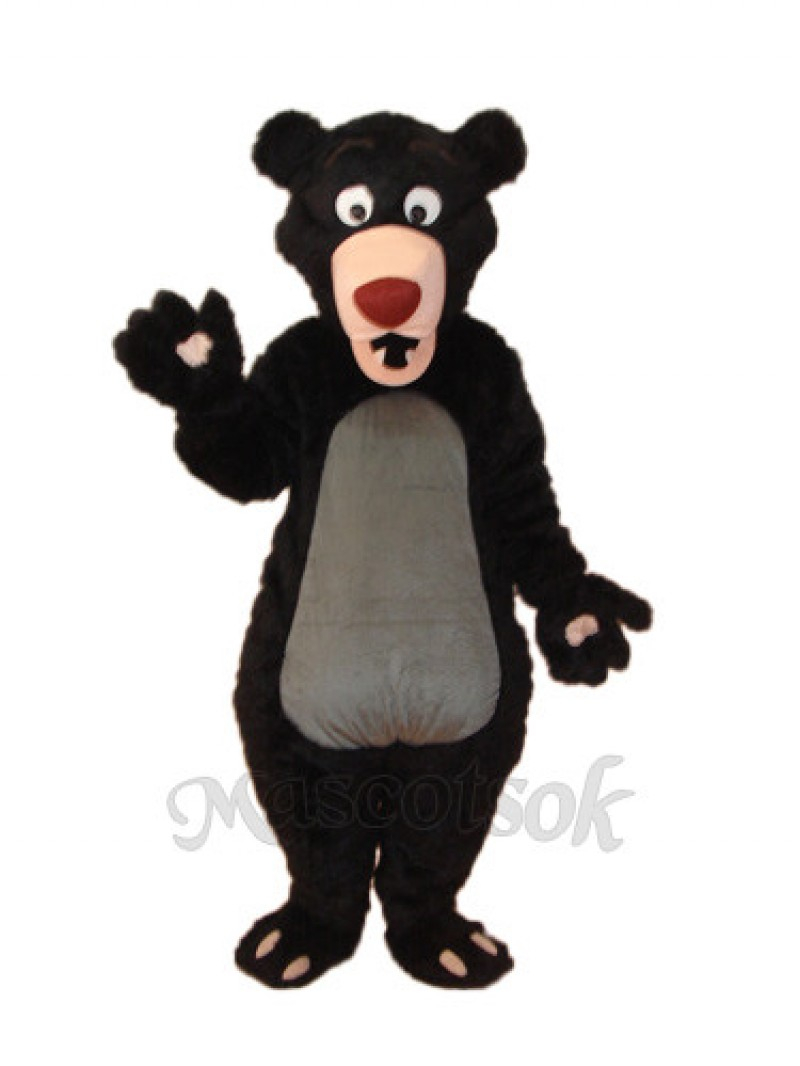 Long-haired Black Bear Mascot Adult Costume