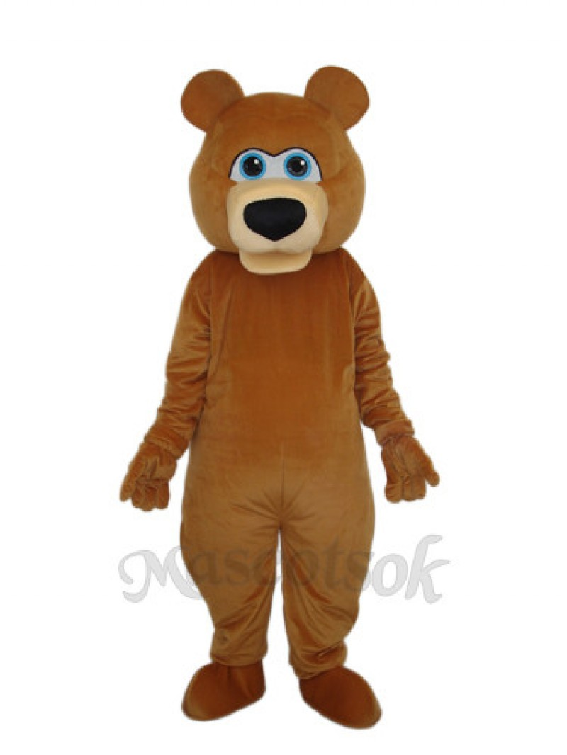 Strange Brown Bear Mascot Adult Costume