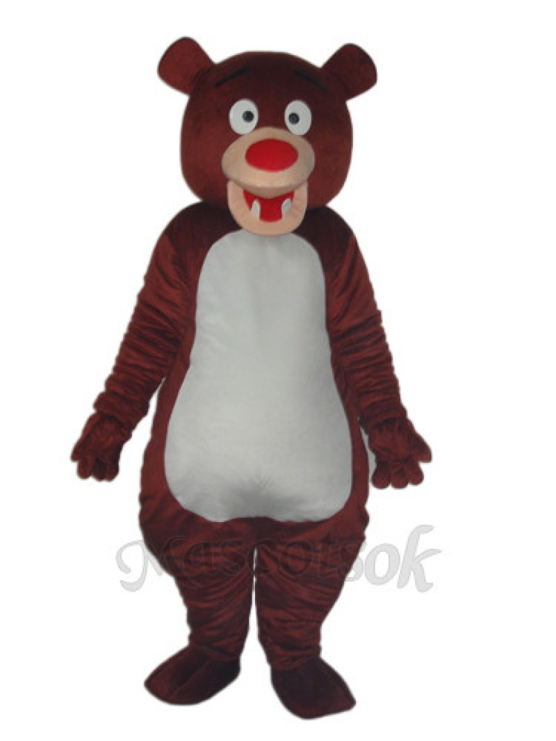 Brown Bear Blue Mascot Adult Costume