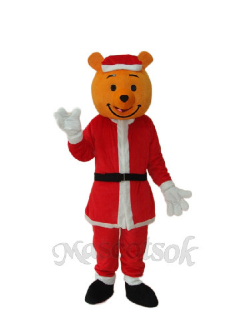 Yellow Christmas Bear Mascot Adult Costume
