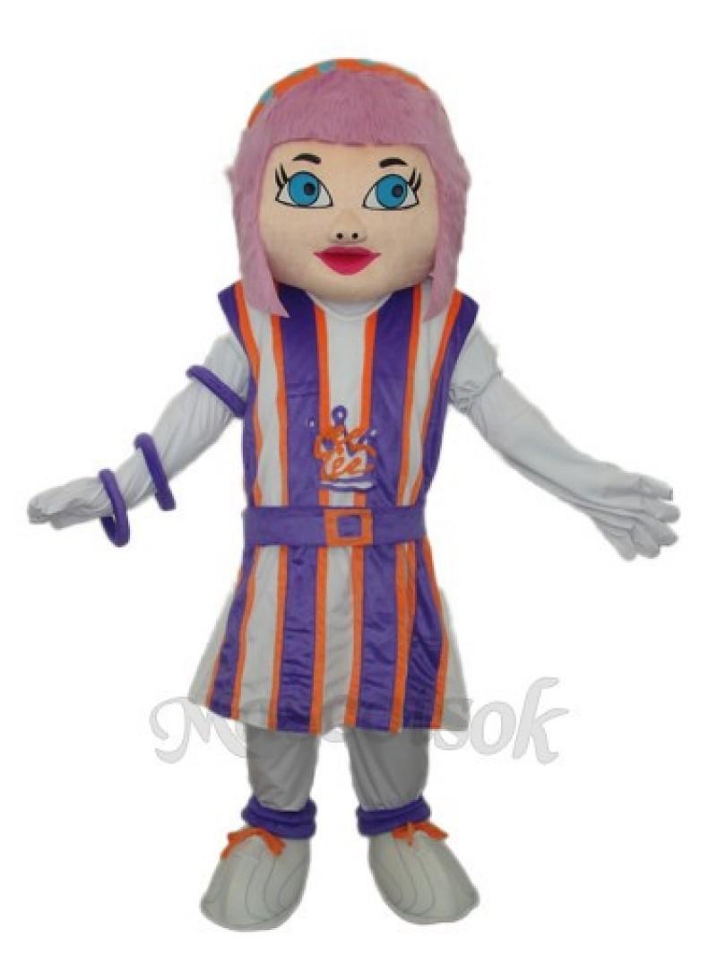 Purple Hair Girl Mascot Adult Costume