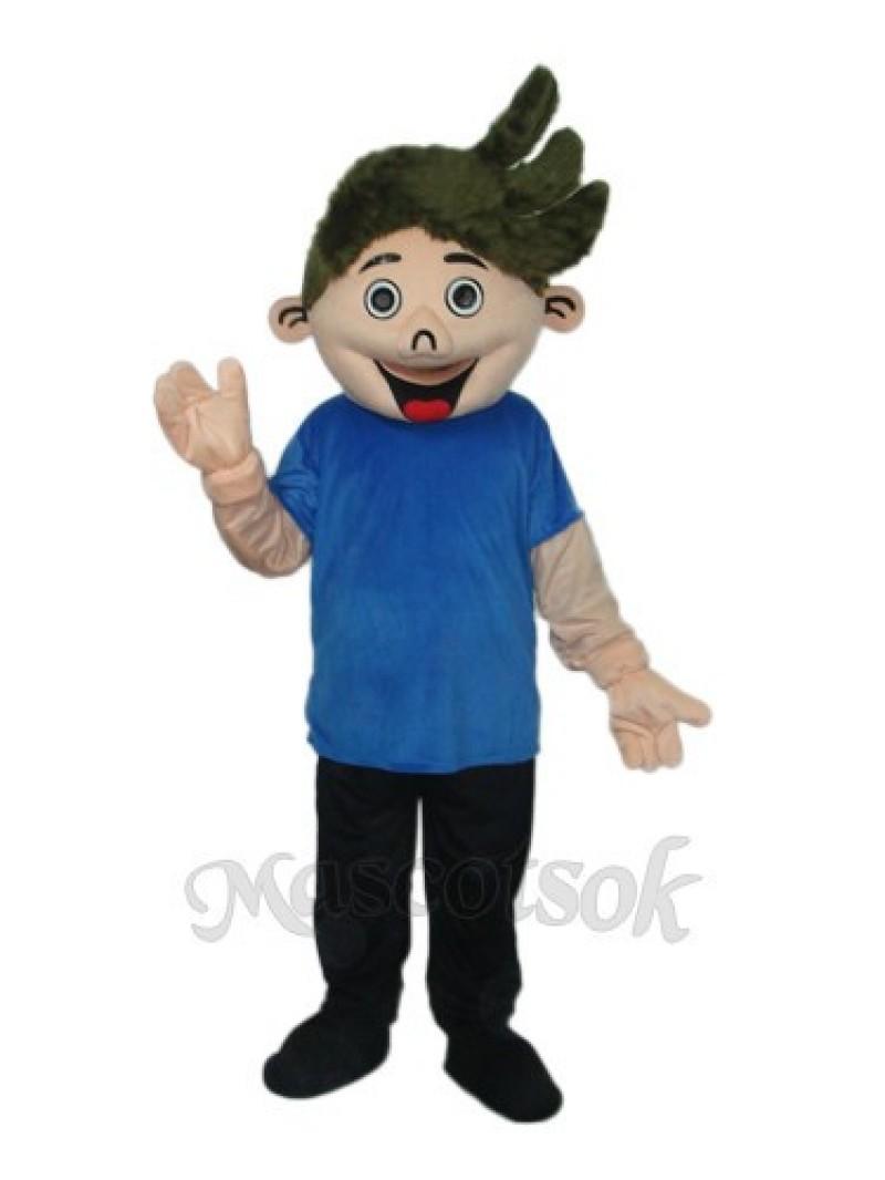 Perm Boy Mascot Adult Costume