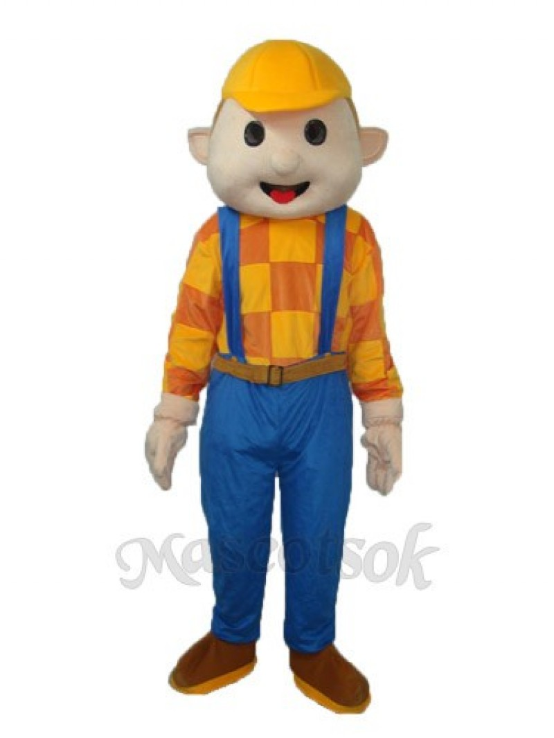 Yellow Hat Child Mascot Adult Costume