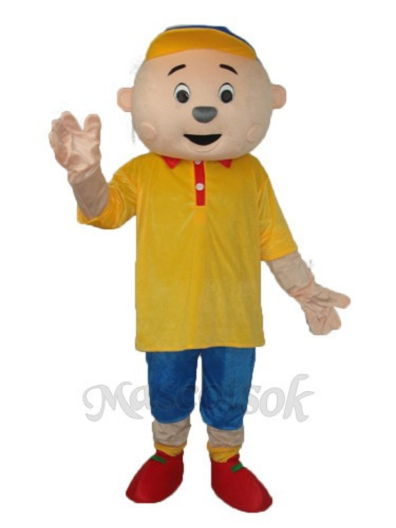 Bulk Of The Boys In Yellow Mascot Adult Costume