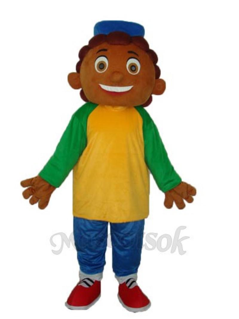Pineapple Boy Mascot Adult Costume