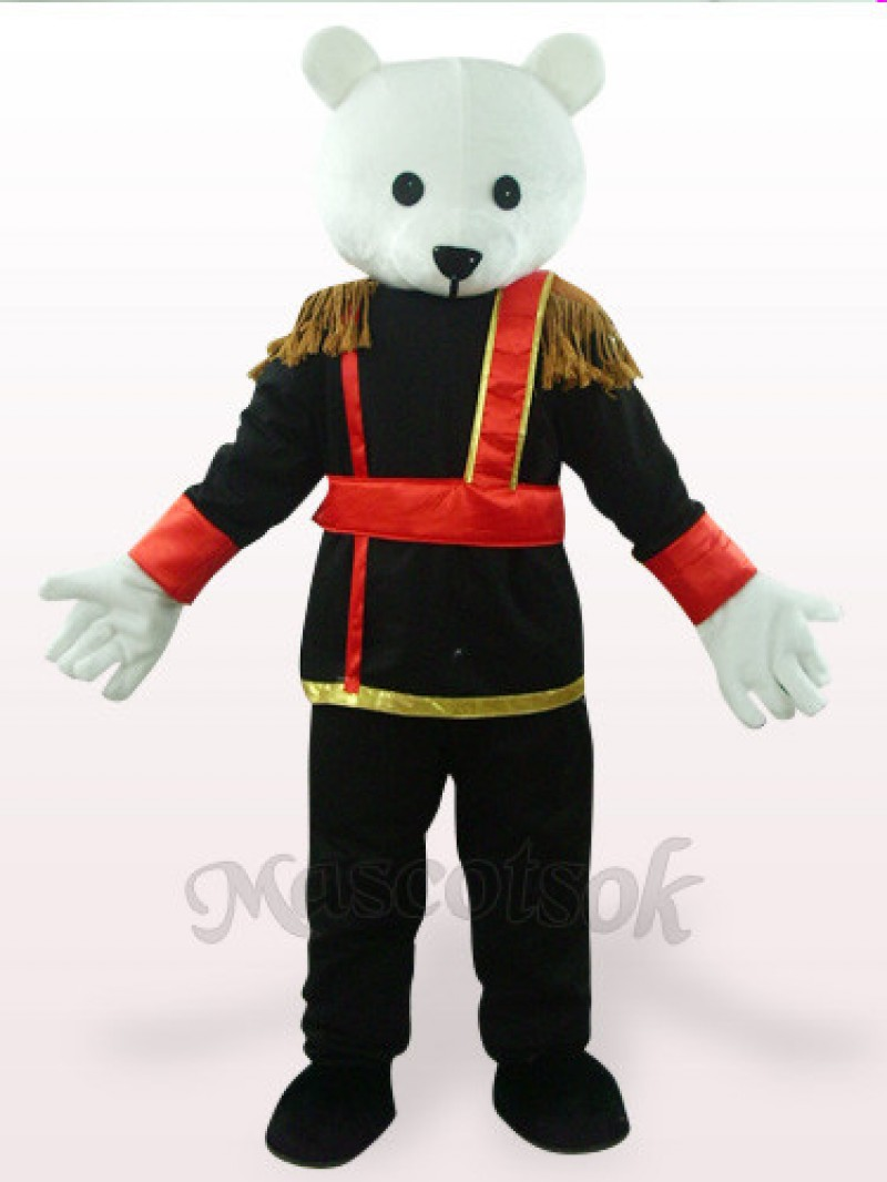 Black And White Male Teddy Bear Plush Mascot Costume