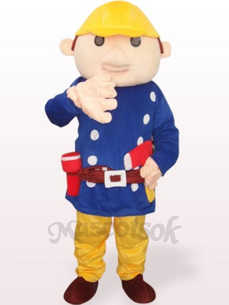 Blue Baboo Engineer Plush Adult Mascot Costume