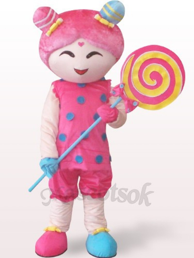 Candy Girl Plush Adult Mascot Costume