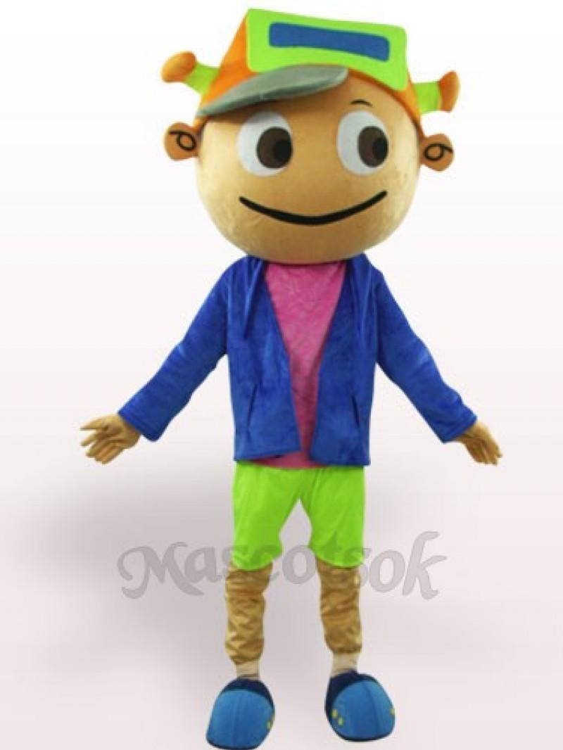 Cap Boy Adult Plush Mascot Costume