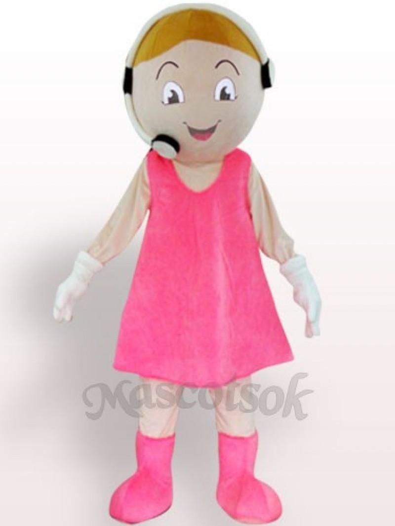 Customer Service Representative Plush Adult Mascot Costume