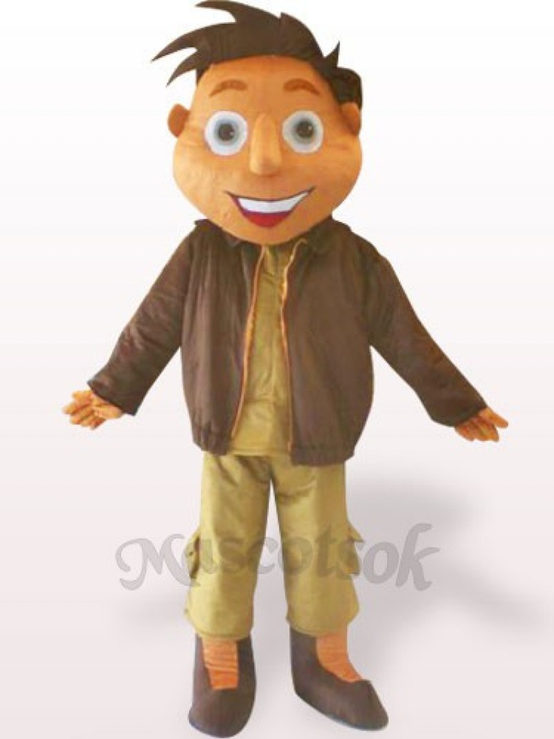 Jacket Boy Plush Adult Mascot Costume