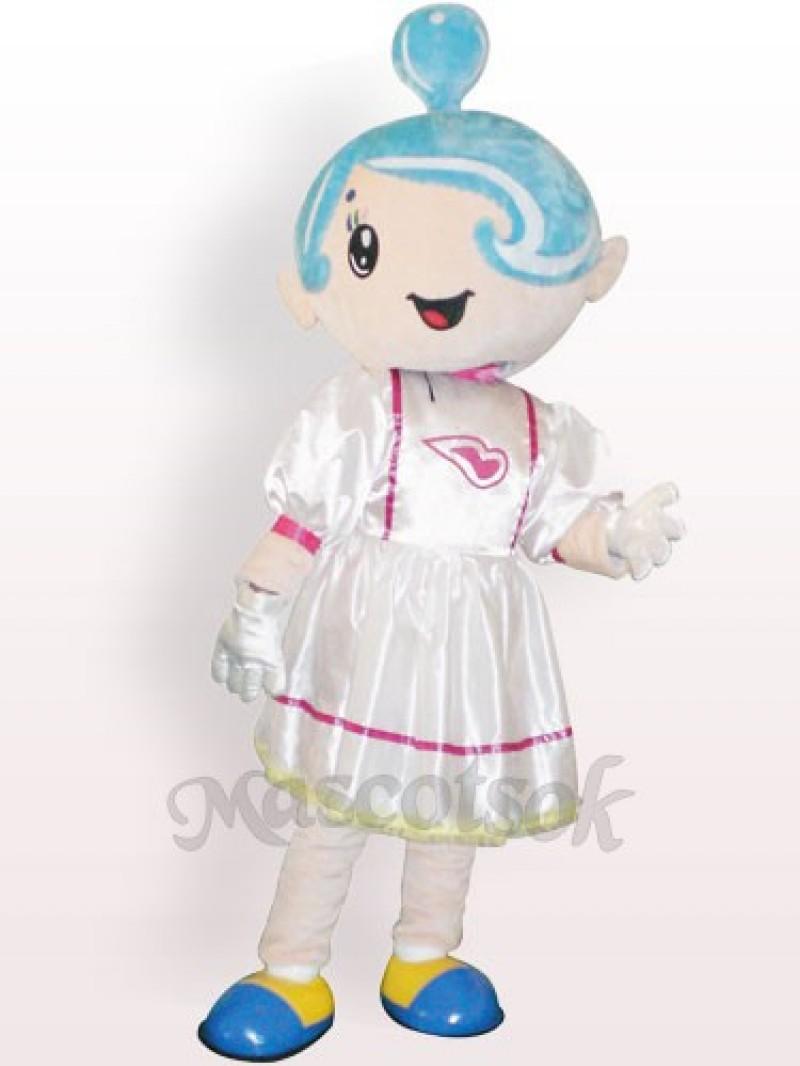 Music Girl Plush Adult Mascot Costume