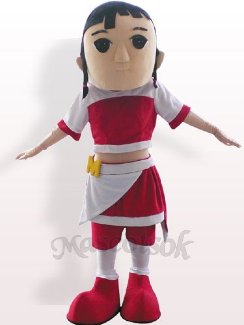 Pretty Girl Plush Adult Mascot Costume