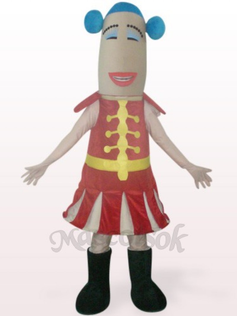 Red Woman Plush Mascot Costume