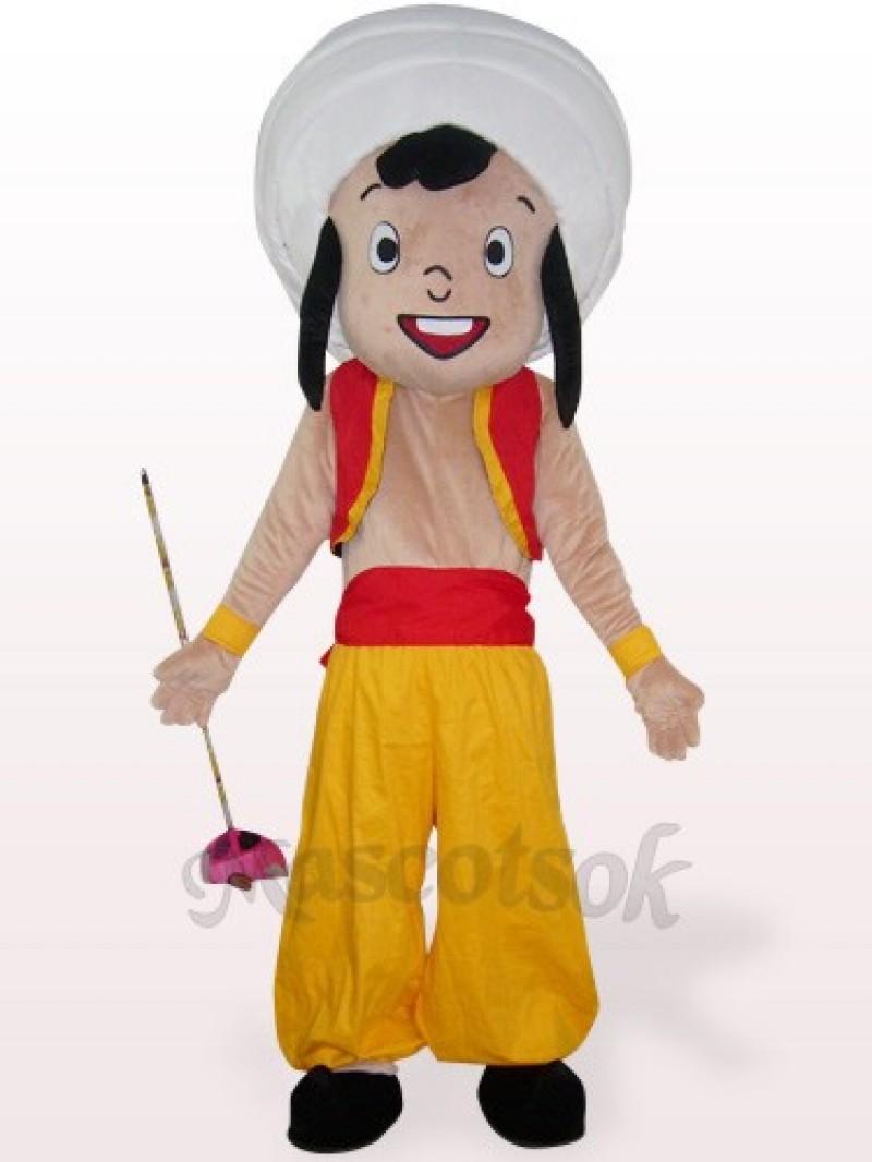 Yellow Arab Boy Plush Mascot Costume