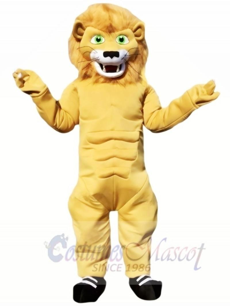 Cute Power Lion Mascot Costumes Animal