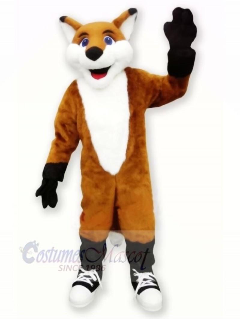 Smiling Fox Mascot Costumes Cartoon