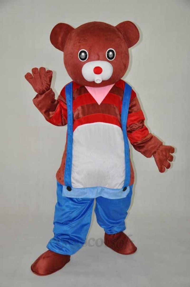 Brown bear, teddy bear plush adult mascot costume