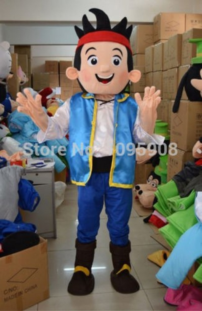 High Quality New Jake and Neverland Pirate Mascot Costume Pirates Adult Party Carnival Halloween Christmas Mascot Free Shipping