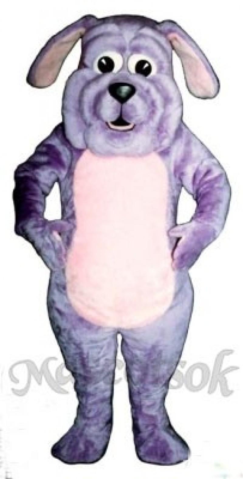 Cute Purple Pup Dog Mascot Costume