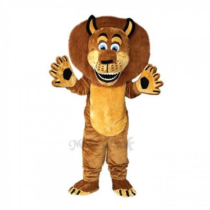 Brown Alex The Lion Mascot Costumes